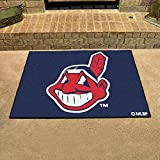 "Fanmats Home Indoor sports Team Logo Mat Cleveland Indians All-Star Rugs 34""x45"""