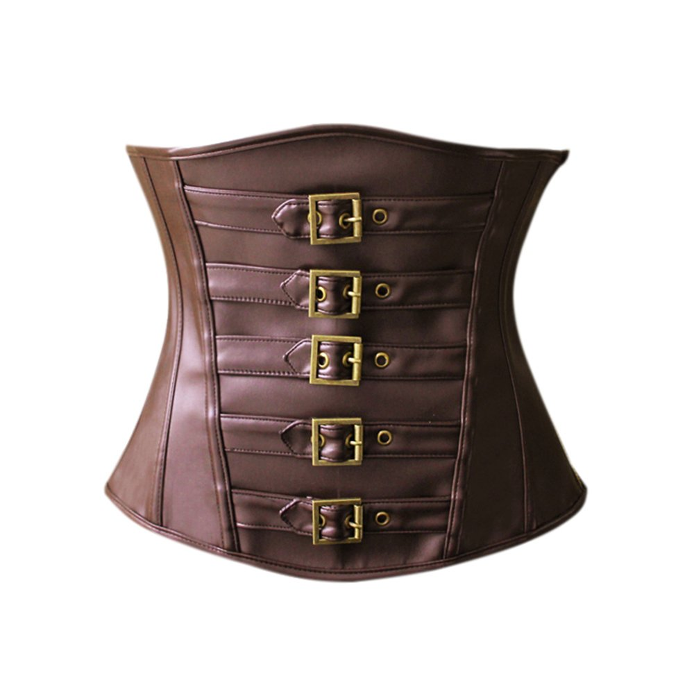 Ayawei Corsets for Women Bustier Top Like Underbust Waist Trainer Leather Design for Use Fashion Vintage Cincher