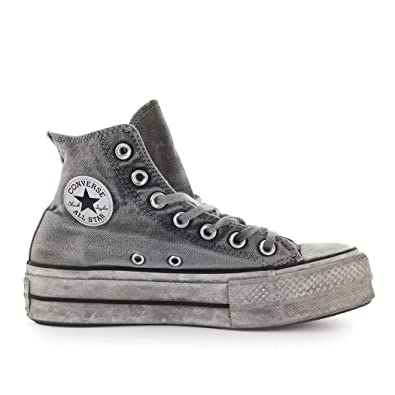 Converse Chuck Taylor All Star Lift Smoked Canvas High Top graygraywhite