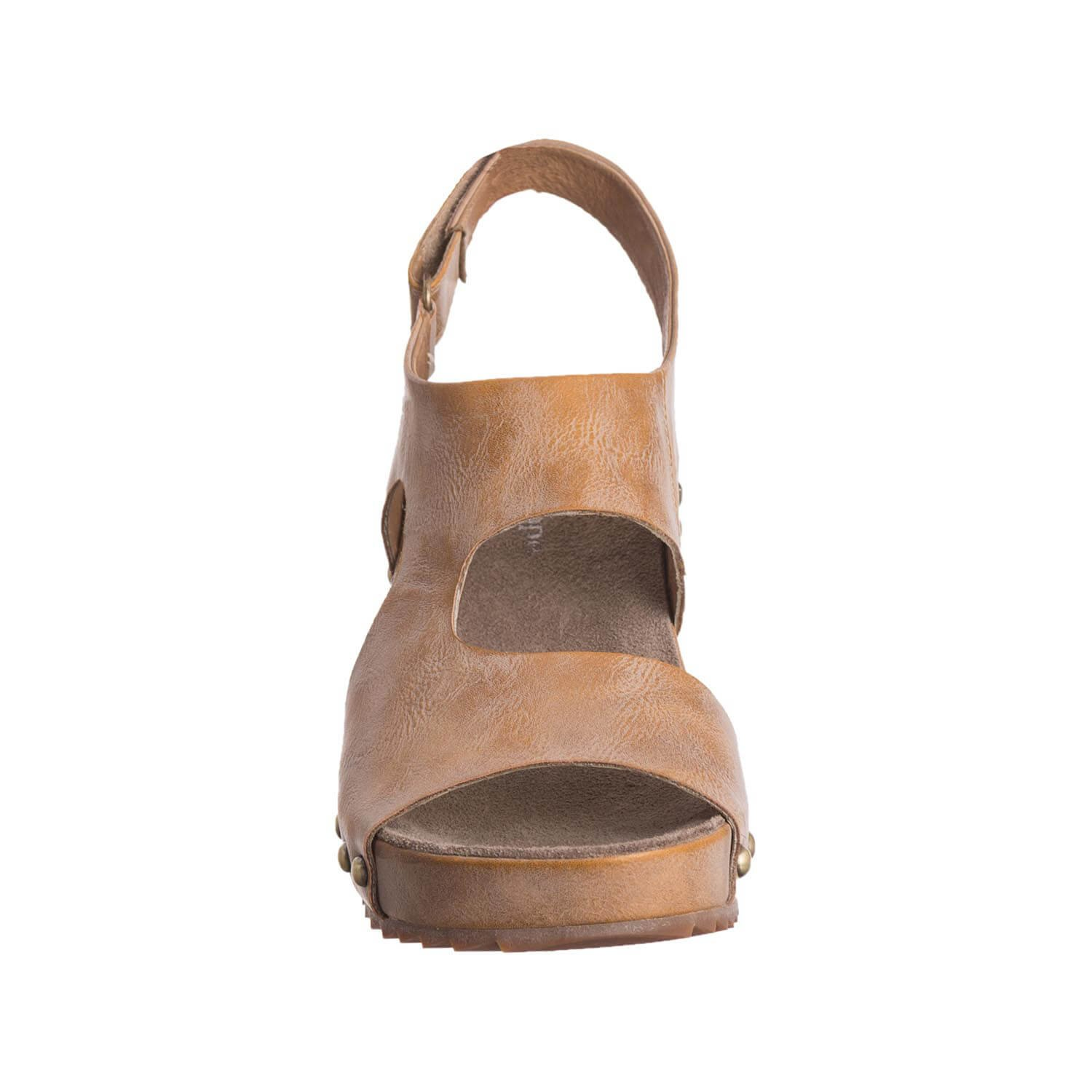 Antelope Women's 537 Metallic Leather Side Cut Wedge B079G3V8BY 8 B(M) US / 39 EU|Taupe