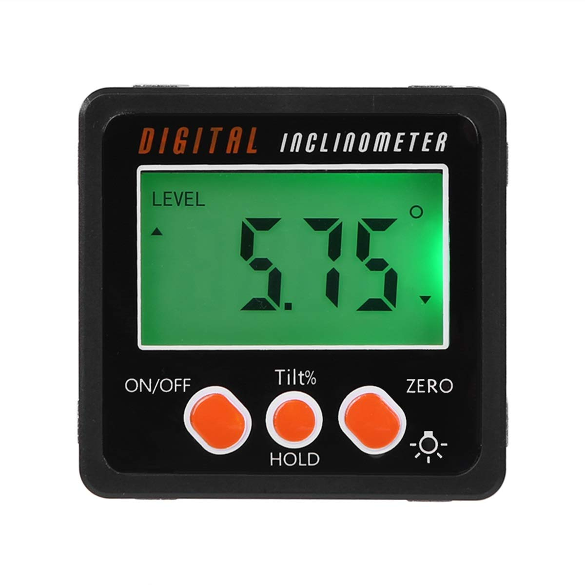 Precise Digital Inclinometer Protractor Waterproof Level Box Angle Finder Bevel Box with Magnetic Base None