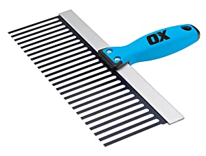 "OX Tools 12"" Plasterer's Scarifier | OX Grip Handle"