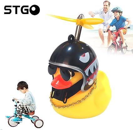 Duck Bike Children Bicycle Horn Motorcycle Helmet Light Bell Handlebar Bell Bike
