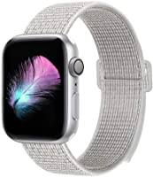 HILIMNY Compatible for Apple Watch Band 38mm 40mm 42mm 44mm, Soft Nylon Sport Loop, with Hook and Loop Fastener,...