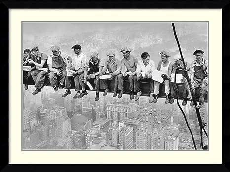 "20/""x44/"" Lunch Atop a Skyscraper /& Construction . Large Art Wall Decors 2pcs"