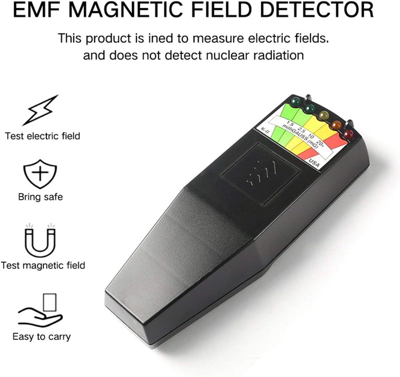KinshopS K2 Misuratore di Campo elettromagnetico EMF Gauss Rilevatore Portatile di Campo Magnetico EMF Nero Nero