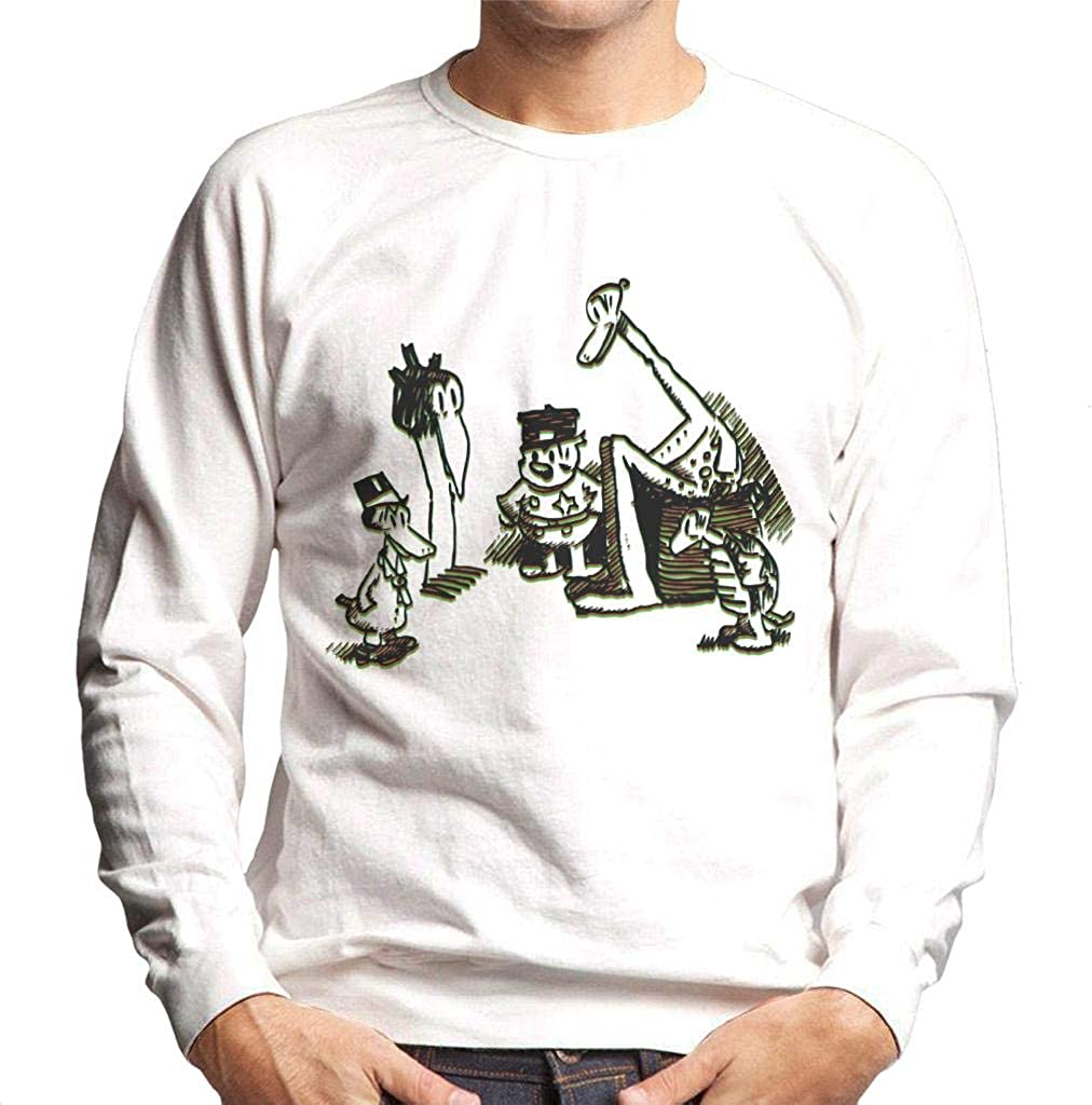 Krazy Kat Group Circle Mens Sweatshirt