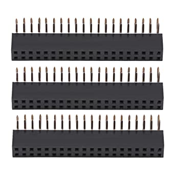 sourcing map 50Pcs 2.54mm Pitch 2x15-Pin Double Row Straight Connector Female Pin Header Strip PCB Board Socket