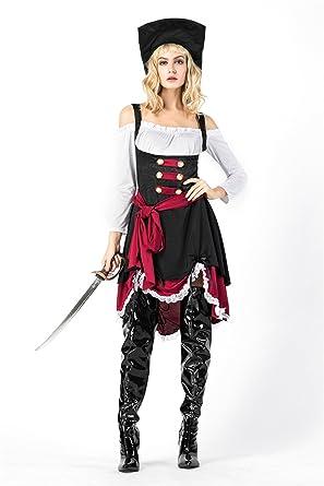 Amazon Com Halloween Cosplay Pirate Costume Women Off Shoulder