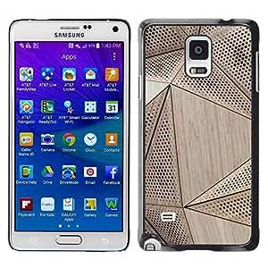 Paccase / SLIM PC / Aliminium Casa Carcasa Funda Case Cover para - Quote Minimalist Lines Motivational - Samsung Galaxy Note 4 SM-N910F SM-N910K SM-N910C SM-N910W8 SM-N910U SM-N910