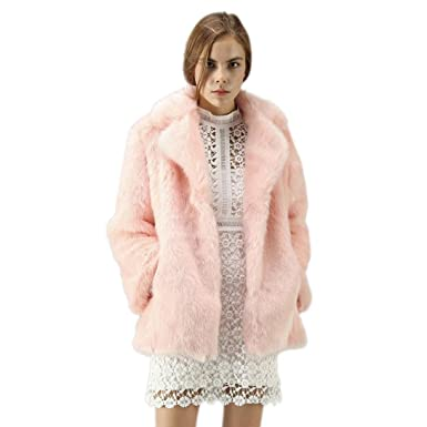 fb2e3cbde48 HOMEBABY Ladies Soft Faux Fur Coat