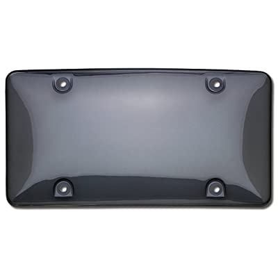 Cruiser Accessories 72200 Bubble Shield License Plate Shield/Cover, Smoke: Automotive
