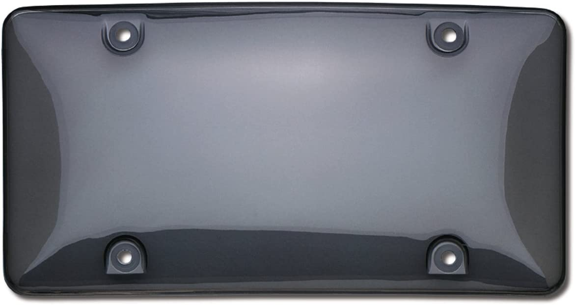 1 X SMOKE TINTED BUBBLE SHIELD PROTECTOR LICENSE PLATE FRAME COVER FRONT//REAR