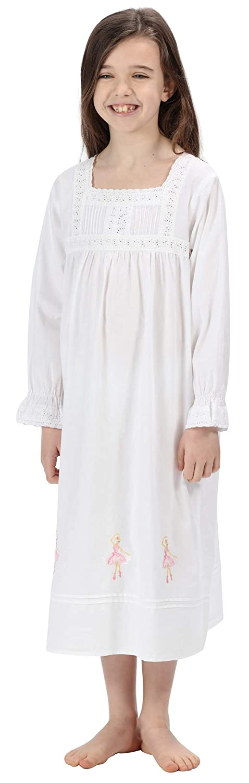 The 1 for U 100/% Cotton Girls Nightdress Ballerina Nightie Age 4-12 Sophie