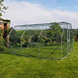 FeelGoodUK galvanisé Cage, 4 x 3 x 2 m