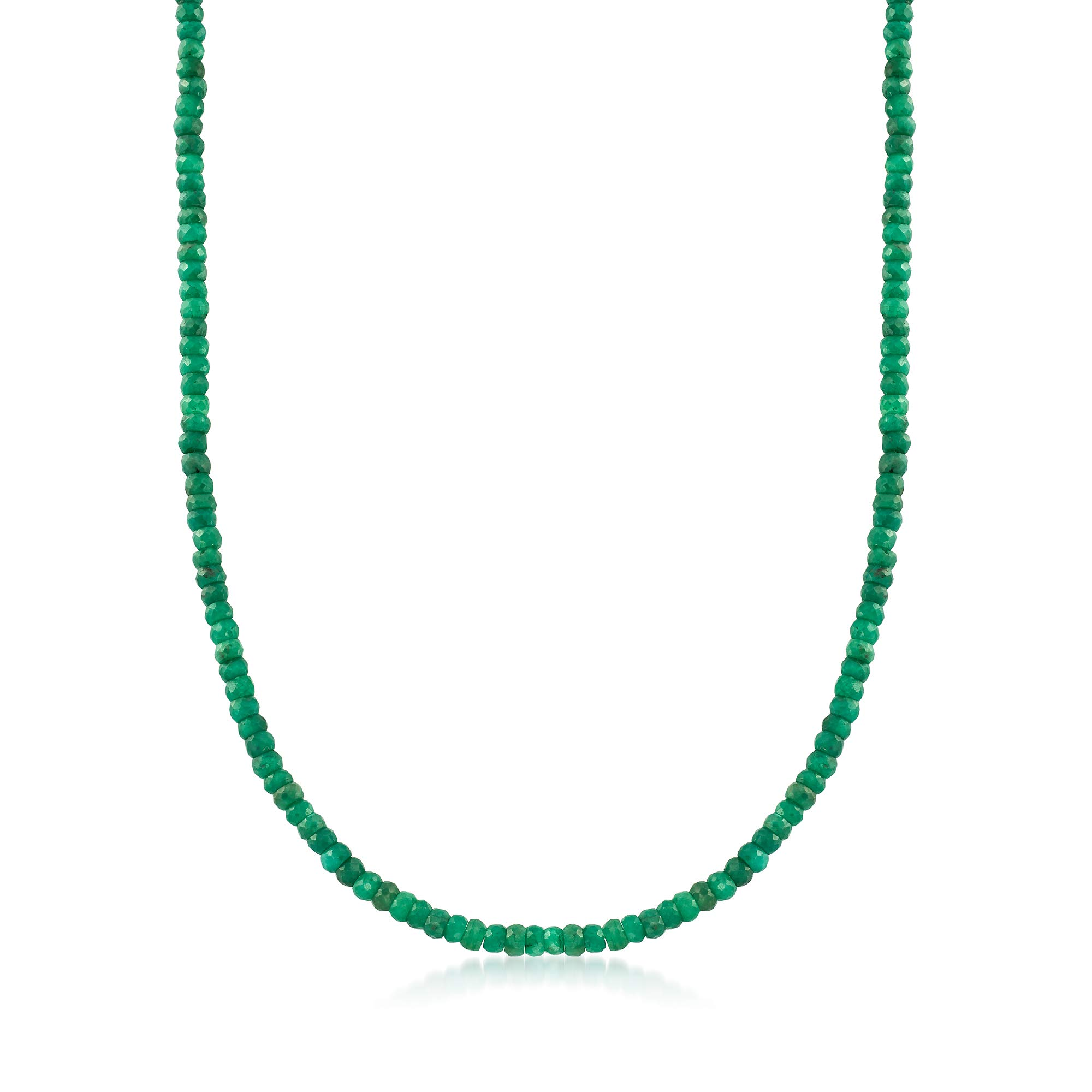 Ross-Simons 58.50 ct. t.w. Emerald Bead Necklace in 14kt Yellow Gold by Ross-Simons