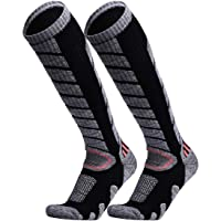 WEIERYA Ski Socks 2 Pairs Pack for Skiing, Snowboarding, Cold Weather, Winter Performance Socks