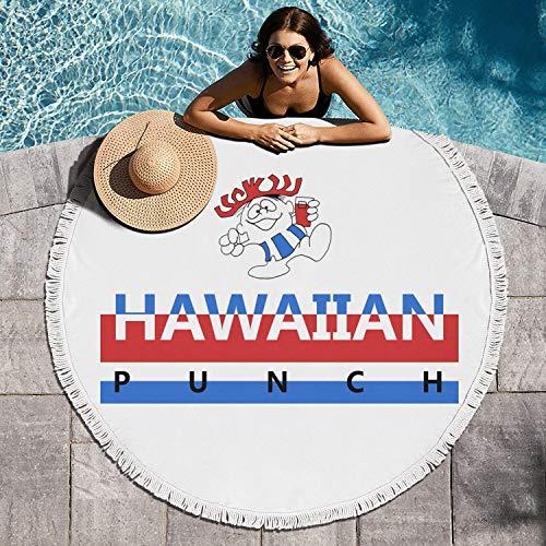 vexciop Hawaiian Fruit Punch Cool Multi-Purpose Circular Beach Towel Blanket (60in Extra Large) Blanket]()