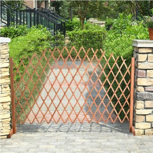 Safstar Free Standing Fence Wooden Expanding Screen Pet Dog Gate Child Kids Barrier by S AFSTAR (Image #9)