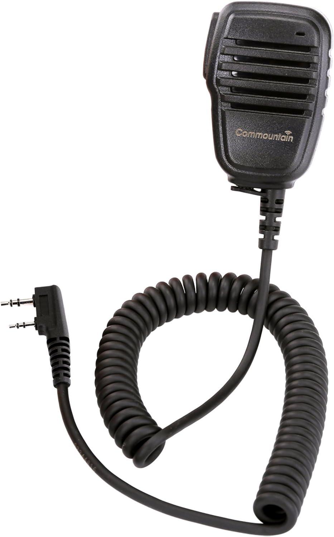 Compact Speaker Mic with Reinforced Cable for Kenwood Radios NX-220 NX-320 TK-2160 TK-2170 TK-2212 TK-2302 TK-2312 TK-2360 TK-2402 TK-3160 TK-3170 TK-3230 TK-3312 TK-3360 TK-3402, Shoulder Microphone: GPS & Navigation