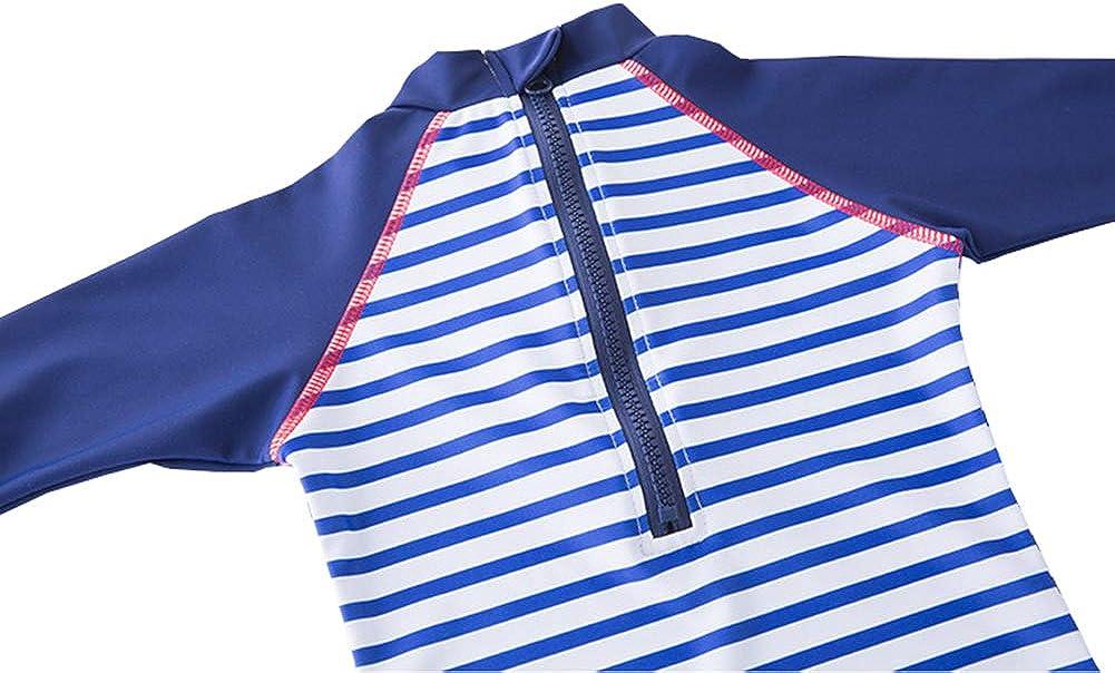 TAIYCYXGAN Baby Girls Boys Zip Up Swimsuit Kids One Piece Bathing Suit Rash Guards Swimwear Surfing Suit Sunsuit UPF 50+