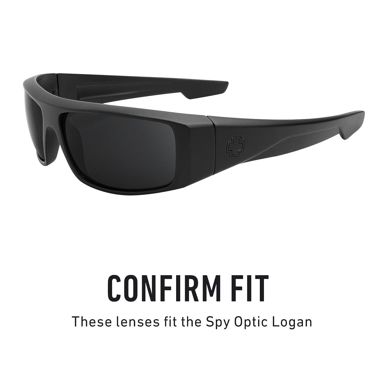 ab6f51d4593 Amazon.com  Revant Polarized Replacement Lenses for Spy Optic Logan Elite  Black Chrome MirrorShield  Sports   Outdoors