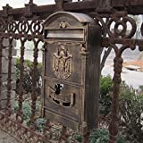Traditional Aristocratic, Sun Identity Villa Cast Aluminum Mailboxes 32 Colors Available (02 Antique Bronze)