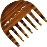"Giorgio G63 2 3/4"" Hand Made Tortoiseshell Detangling Comb - Wide Teeth Flexible Comb, Hand-Made of quality Durable…"
