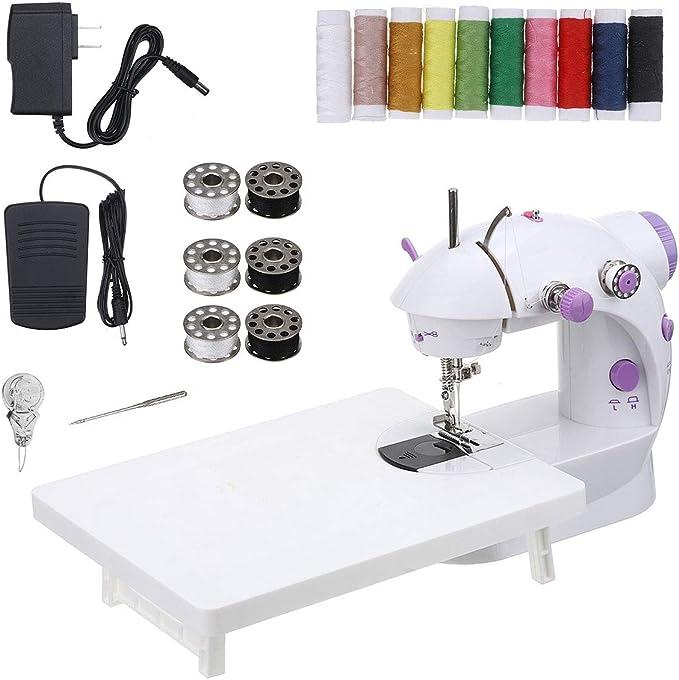 Mini Hand-held Portable Sewing Machine CHARMINER Hand Sewing Machine Quick Repairing Suitable for Denim Curtains Leather DIY 18 PCS