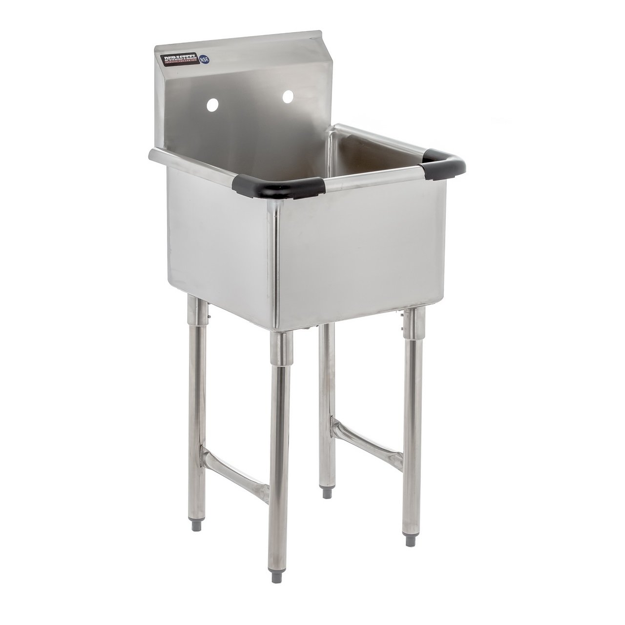 "Apex DuraSteel 1 Compartment Stainless Steel Utility Preparation Prep NSF Sink – 18"" X 18"" Tub Size"