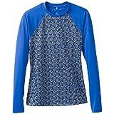 prAna Charline Sun Swim Coverups, Blue Seashells, X-Large