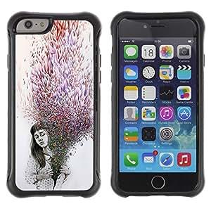 Suave TPU GEL Carcasa Funda Silicona Blando Estuche Caso de protección (para) Apple Iphone 6 / CECELL Phone case / / Deep Meaning Purple Grey Dark Emo /