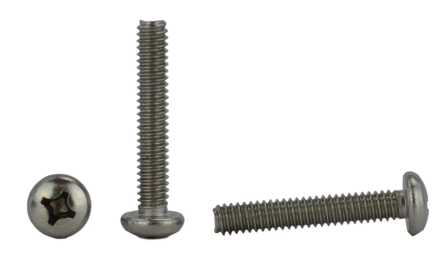 Stainless 1//4-20 x 3 1//4-20 x 3 1//2 to 3 Lengths Available Stainless Steel 18-8 Machine Thread Pan Head Machine Screws Full Thread Phillips Drive