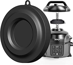 Lid Stand Silicone Lid Holder Accessories Compatible with Ninja Foodi Pressure Cooker And Air Fryer 5 Qt, 6.5 Qt and 8 Qt (Black)