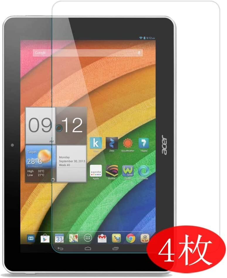 """【4 Pack】 Synvy Screen Protector for Acer Iconia a3-a10 10.1 10.1"""" TPU Flexible HD Clear Case-Friendly Film Protective Protectors [Not Tempered Glass] New Version"""