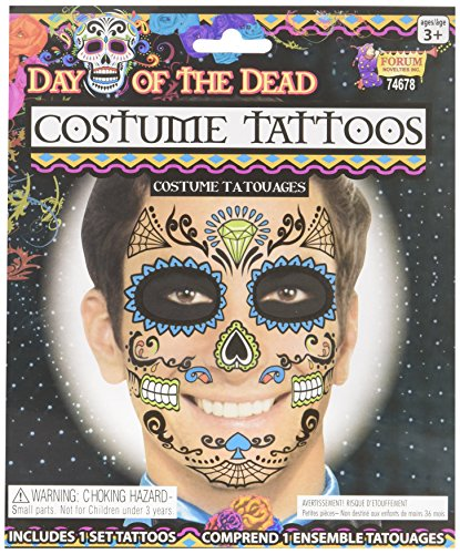 Day of The Dead Male Face Tattoo -