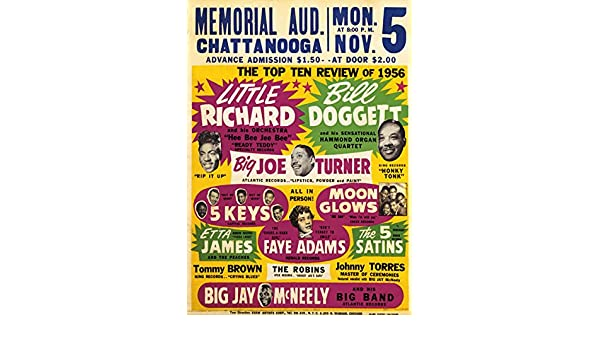 RR18 Vintage Little Richard Rock /& Roll Concert Advertisement Music Poster A3//A4