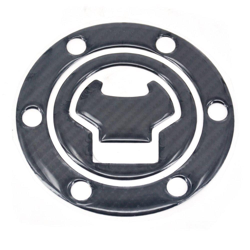 JFG RACING Real Carbon Fiber Gas Cap Cover Pad Fuel Tank Cap Sticker Decal For Honda VFR800 VFR1200X CBR1000RR 650
