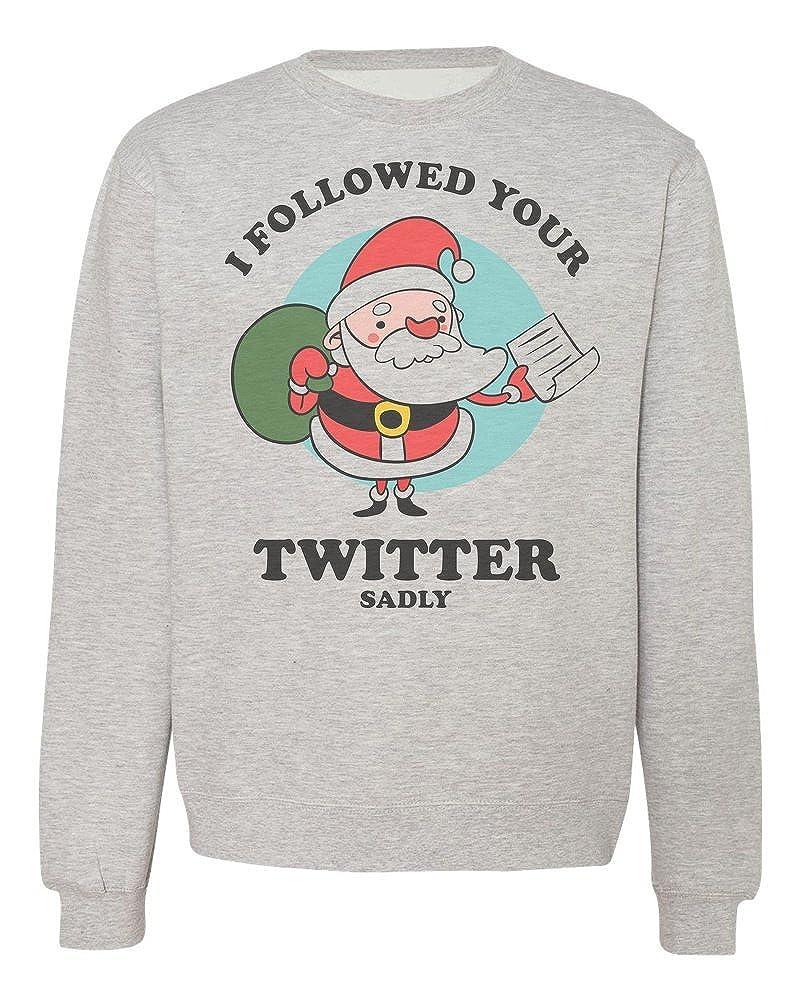 IDcommerce I Followed You Sadly Hilarious Santa with Bad News Mens T-Shirt Large White