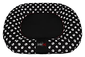 Hobbydog Ponton Prestige Perro Cama, X-Large, Negro con Patas impresión