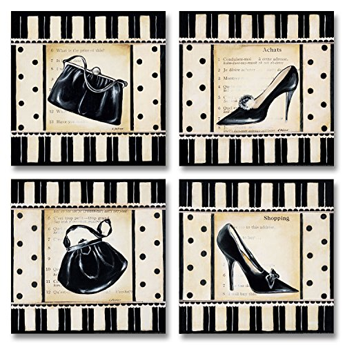 Retro High Heel Shopping Poster Prints product image