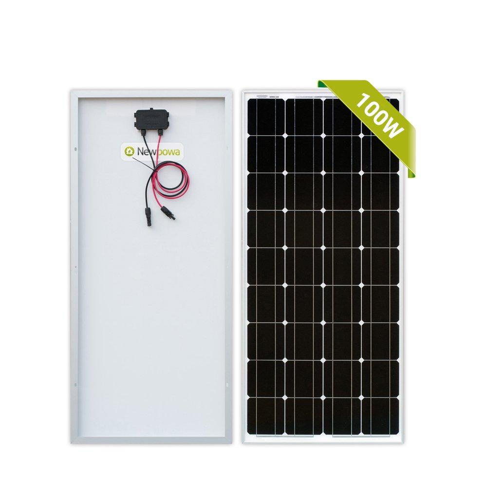 Newpowa 100 Watt Monokristallines SolarModul 100W 12V Panel Mono ...