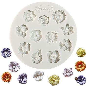Molde de silicona para fondant, diseño de pasta de azúcar, para decoración de tartas, magdalenas, azúcar, candies: Amazon.es: Hogar
