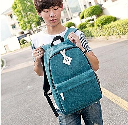 TANG imp M/ädchen//Jungen Stylisch College Schulrucksack Daypacks Schul-Freizeitrucksack,Blue Lake