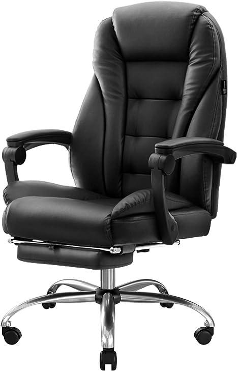 Bürostuhl Schreibtischstuhl Bürodrehstuhl Ergonomischer Chefsessel Kunstleder DE