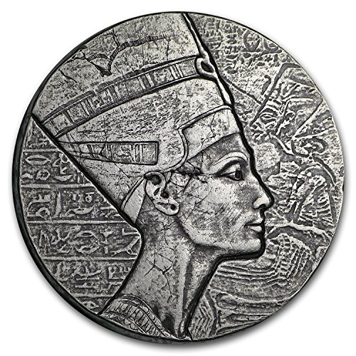 2017 Republic of Chad 5 oz Silver Queen Nefertiti Silver Brilliant Uncirculated