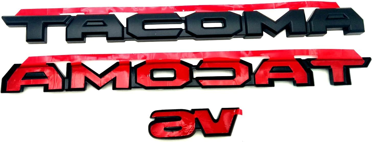 JOJOMARK Blackout Emblem Overlays ABS Plastic PT948-35180-02 Fit For 2016-2021 Toyota Tacoma Accessories Black 3pcs