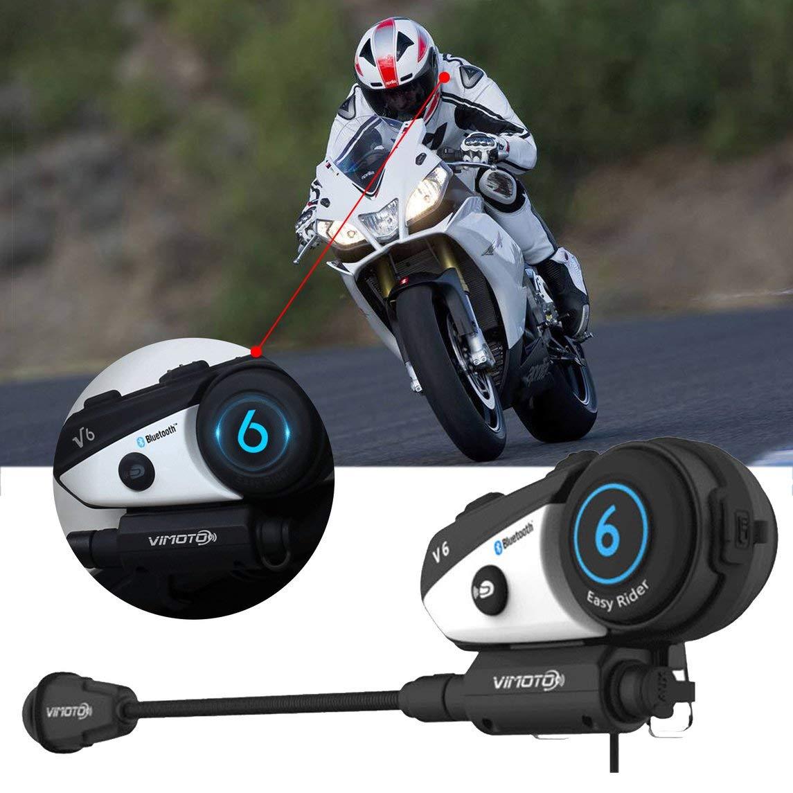 YXTFN Helmet Headset Easy Rider Moto Vimoto V6 Stereo Headphones For Cell Phone
