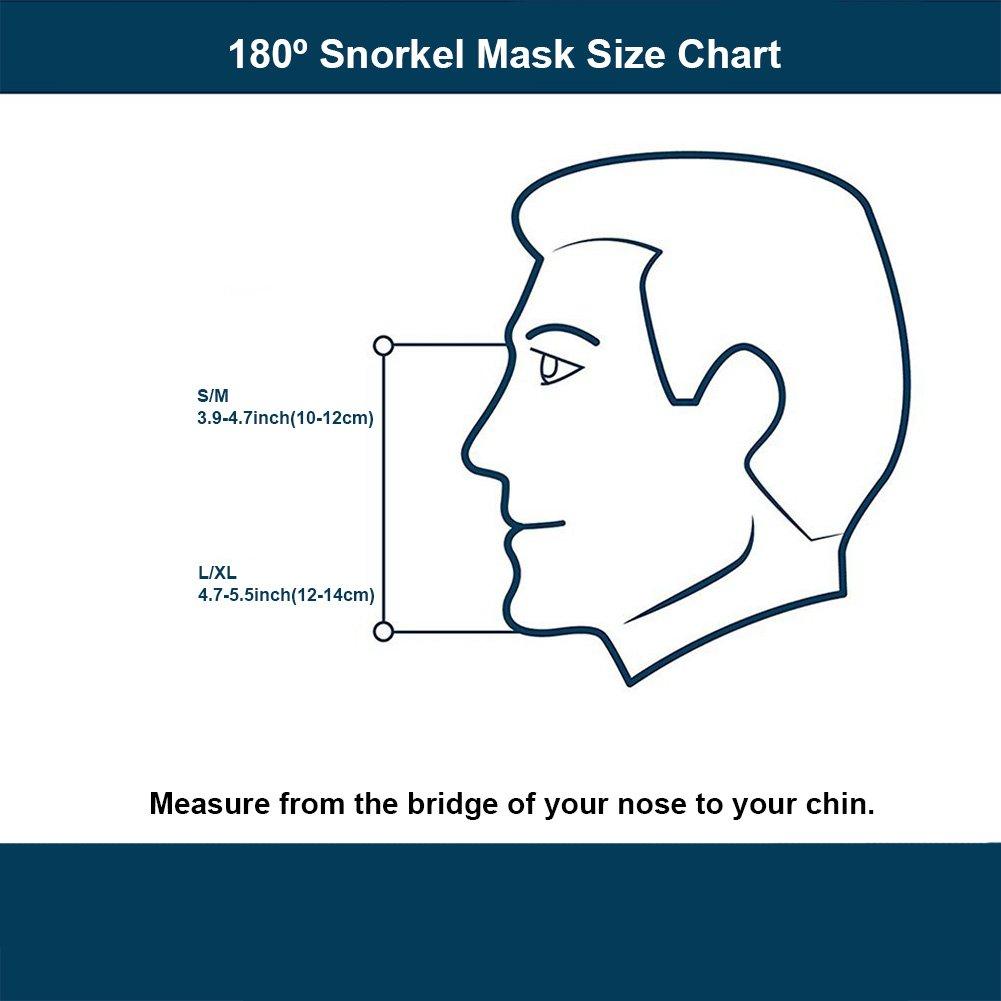 Gardom máscara de esnórquel plegable de cara completa, 180 ° panorámica antigoteo máscara de buceo Goggles GoPro compatible con correa ajustable para la ...