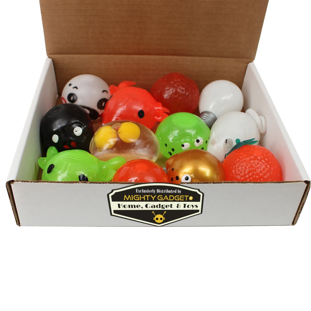 Mighty Gadget (R 12 Pack of Sticky Funny Splat Balls (Random Styles) by Mighty Gadget (Image #4)